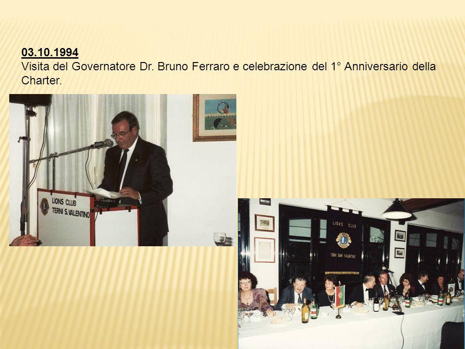 03.10.1994 Visita del Governatore Dr.