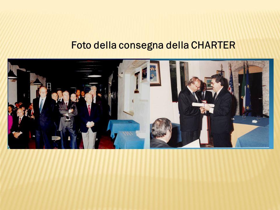 Foto della consegna della CHARTER