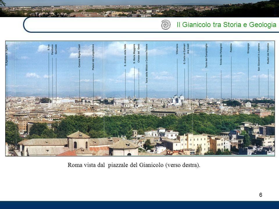 Roma vista dal piazzale del Gianicolo (verso destra).