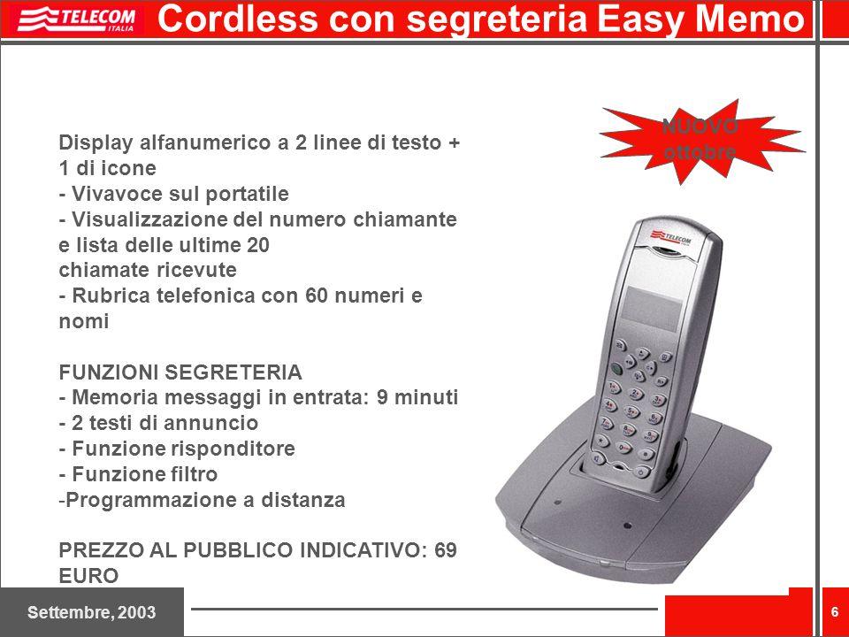Cordless con segreteria Easy Memo