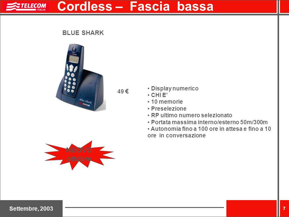 Cordless – Fascia bassa