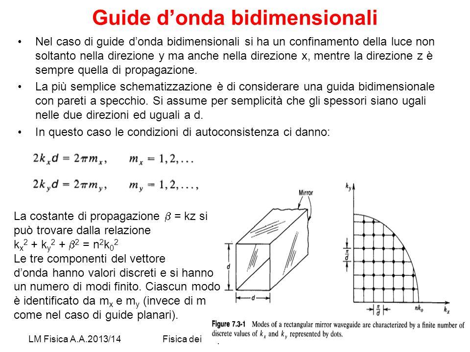Guide d'onda bidimensionali