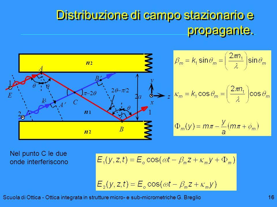 Distribuzione di campo stazionario e propagante.