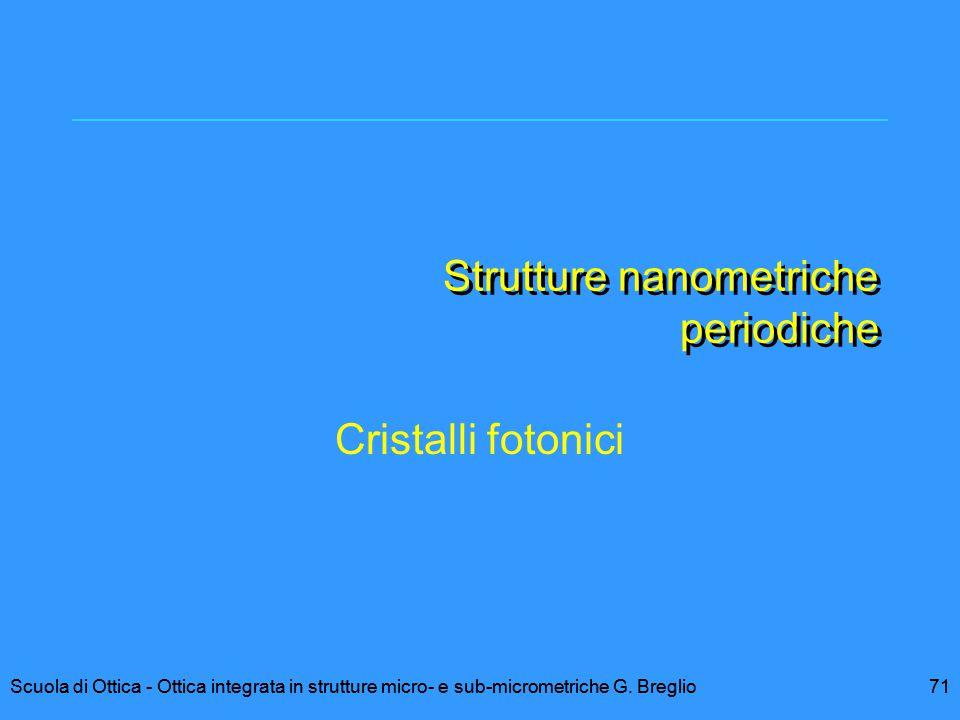 Strutture nanometriche periodiche