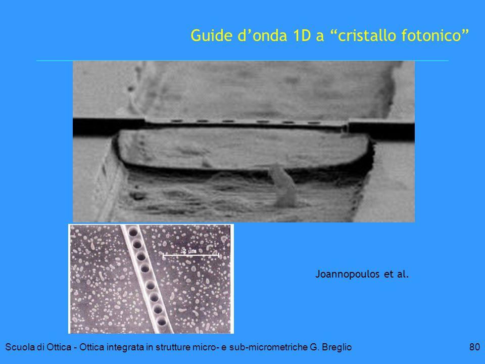 Guide d'onda 1D a cristallo fotonico