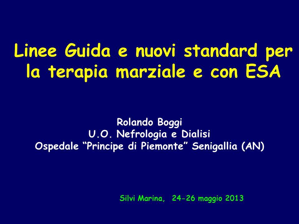 Linee Guida e nuovi standard per la terapia marziale e con ESA