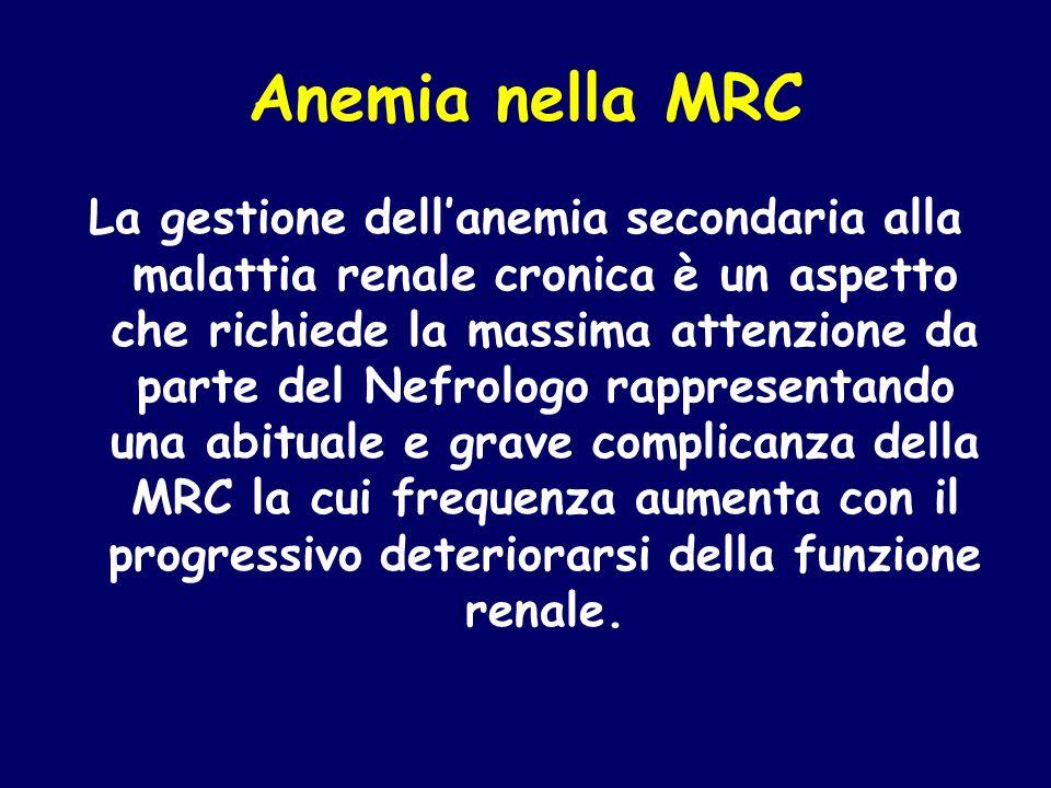 Anemia nella MRC