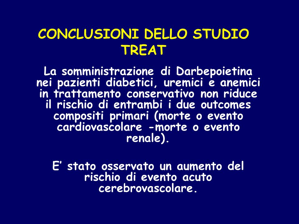 CONCLUSIONI DELLO STUDIO TREAT