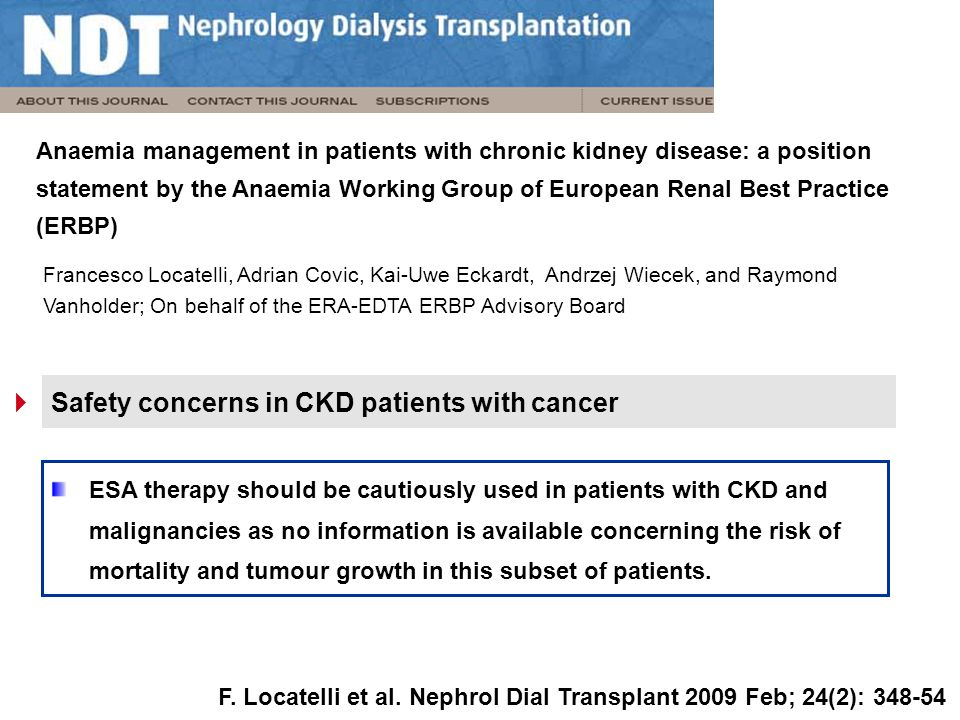 Safety concerns in CKD patients with cancer