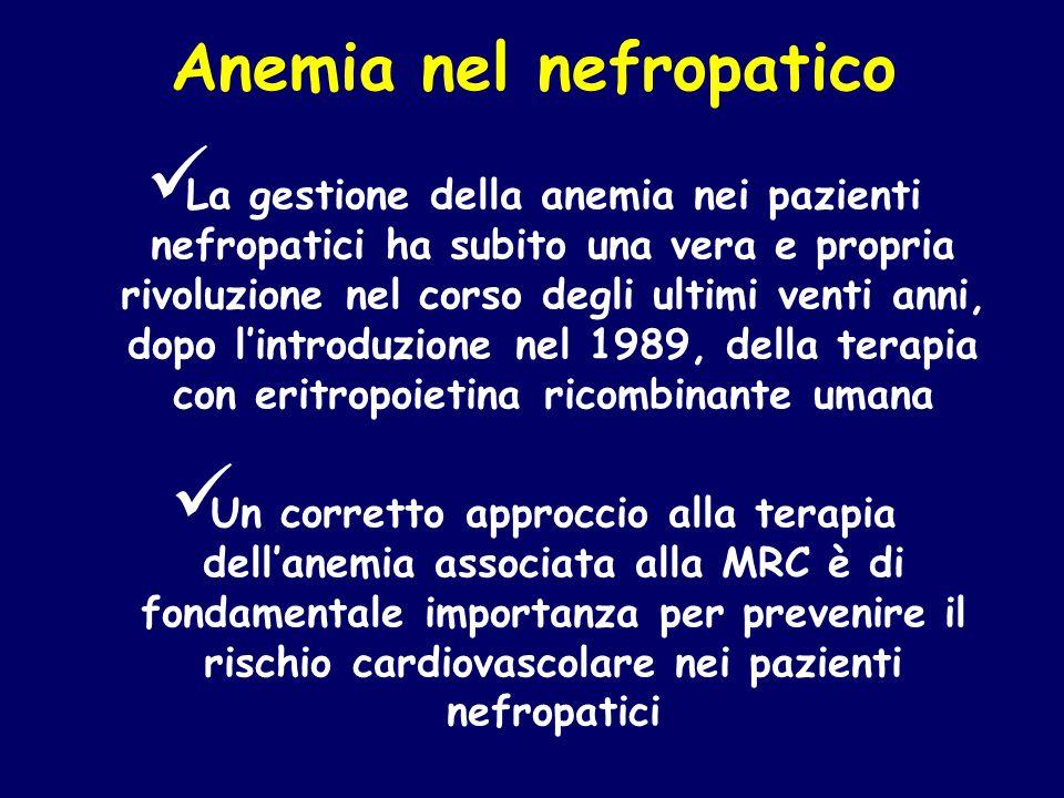 Anemia nel nefropatico