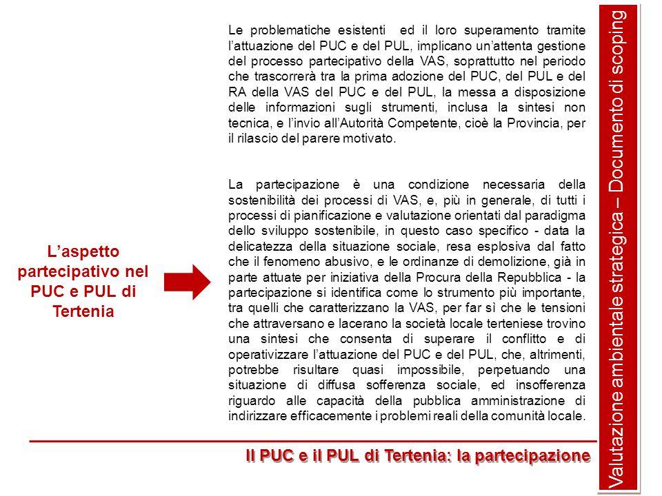 L'aspetto partecipativo nel PUC e PUL di Tertenia