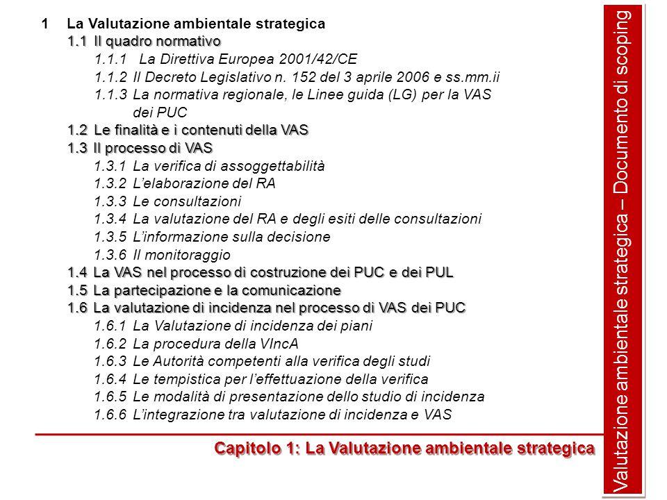 Valutazione ambientale strategica – Documento di scoping