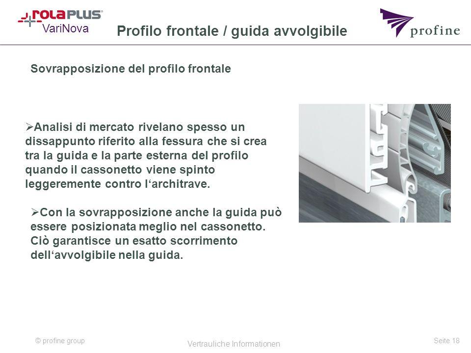Profilo frontale / guida avvolgibile