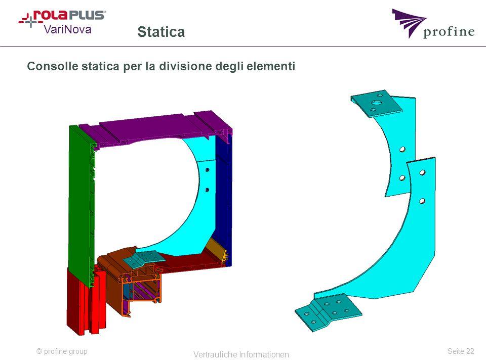 Consolle statica per la divisione degli elementi