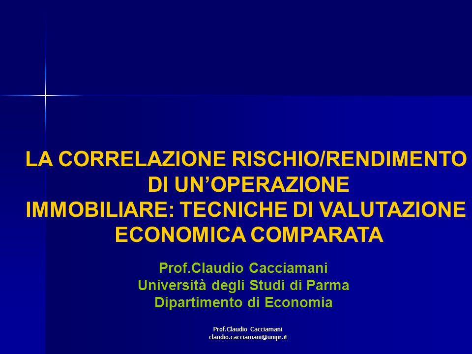 LA CORRELAZIONE RISCHIO/RENDIMENTO DI UN'OPERAZIONE