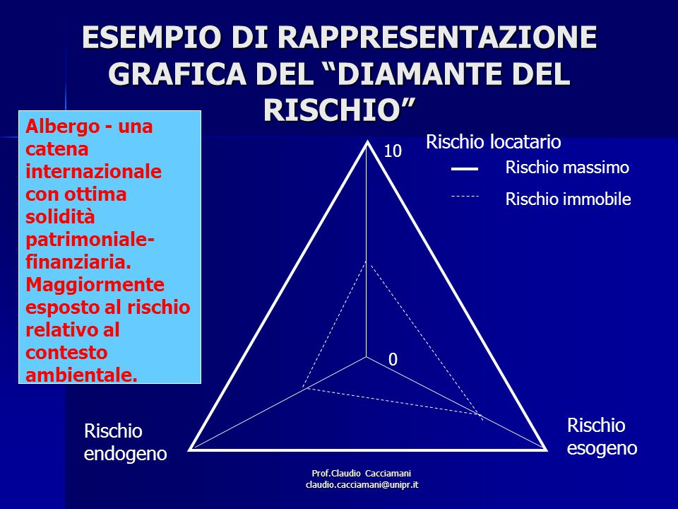 ESEMPIO DI RAPPRESENTAZIONE GRAFICA DEL DIAMANTE DEL RISCHIO