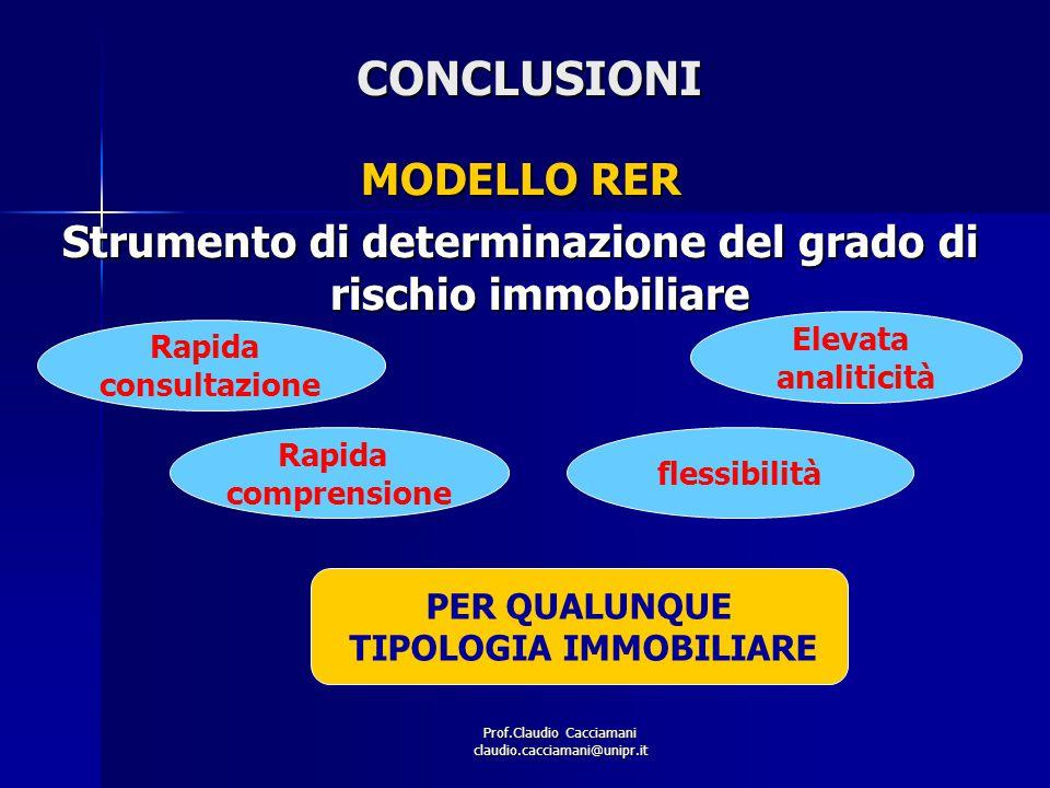 CONCLUSIONI MODELLO RER