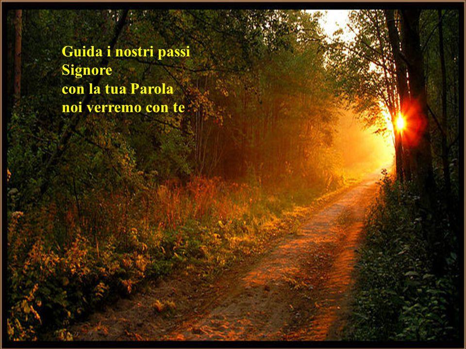Guida i nostri passi Signore con la tua Parola noi verremo con te