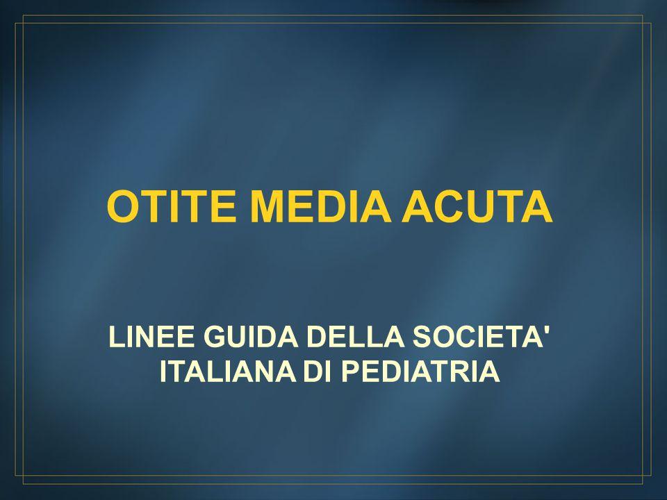 LINEE GUIDA DELLA SOCIETA ITALIANA DI PEDIATRIA