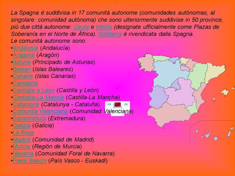 Andalusia (Andalucía) Aragona (Aragón)