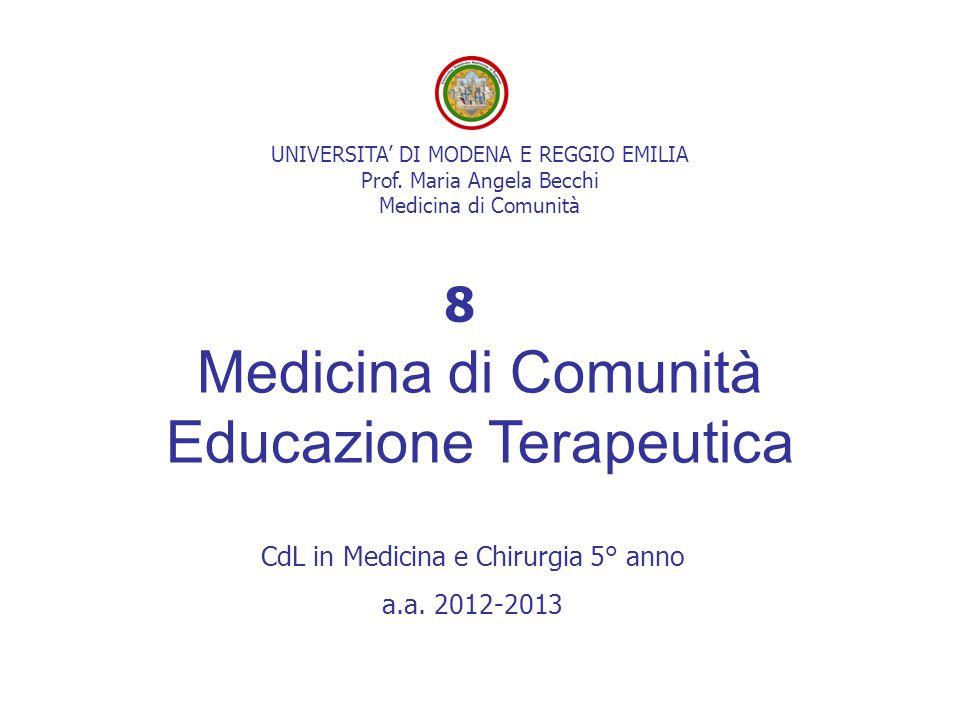 Medicina di Comunità Educazione Terapeutica