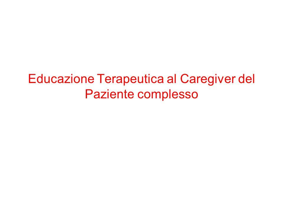Educazione Terapeutica al Caregiver del Paziente complesso
