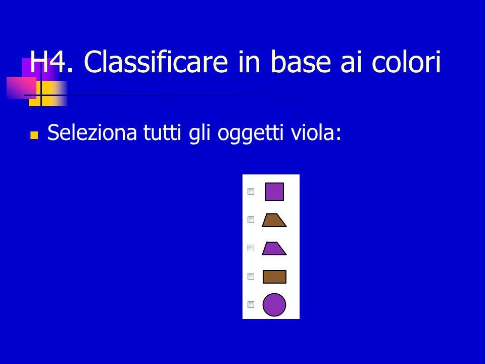 H4. Classificare in base ai colori