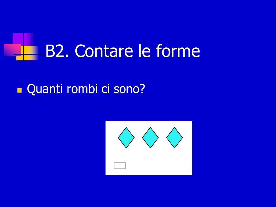 B2. Contare le forme Quanti rombi ci sono