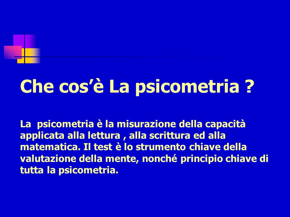 Che cos'è La psicometria