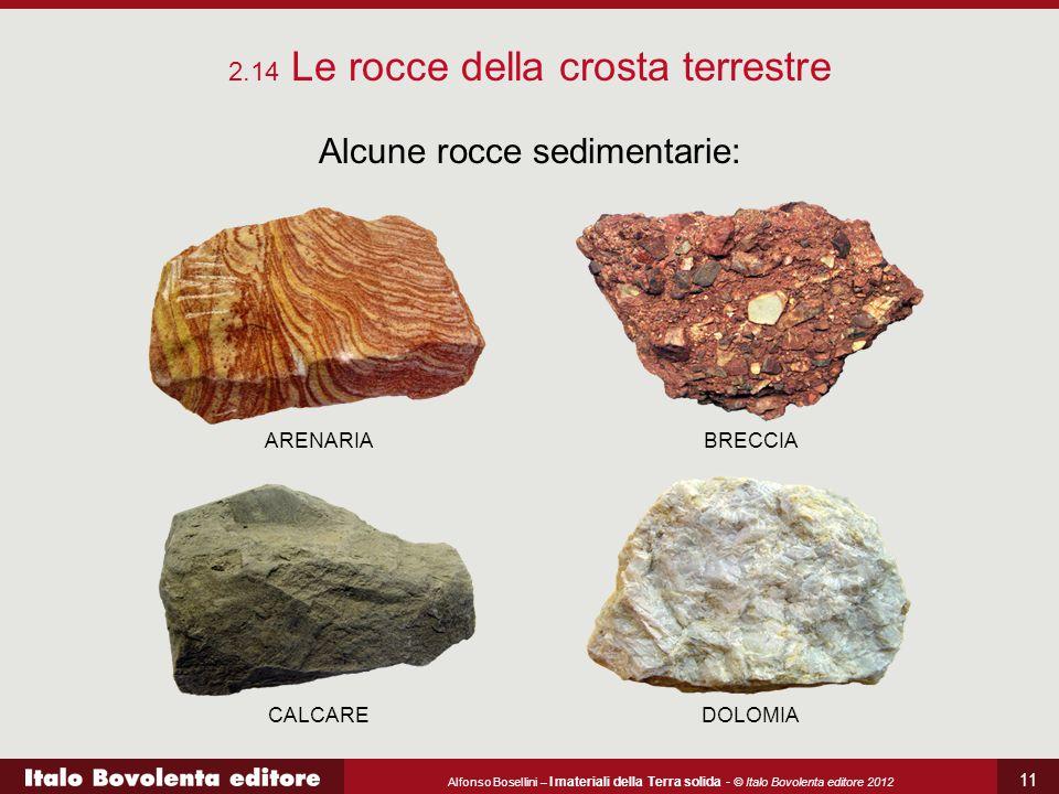 Alcune rocce sedimentarie: