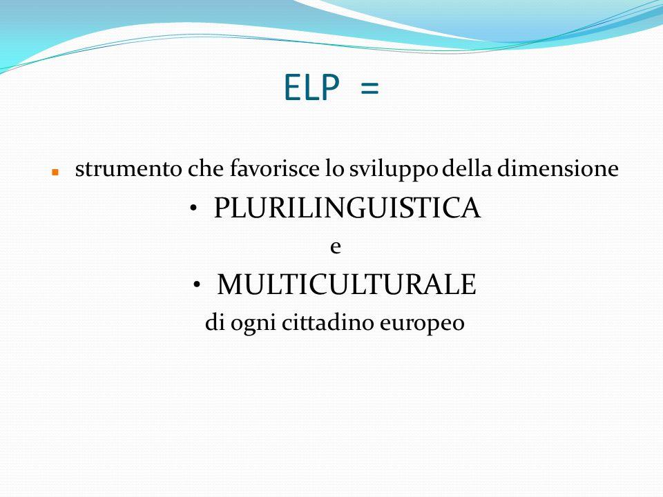 ELP = PLURILINGUISTICA MULTICULTURALE