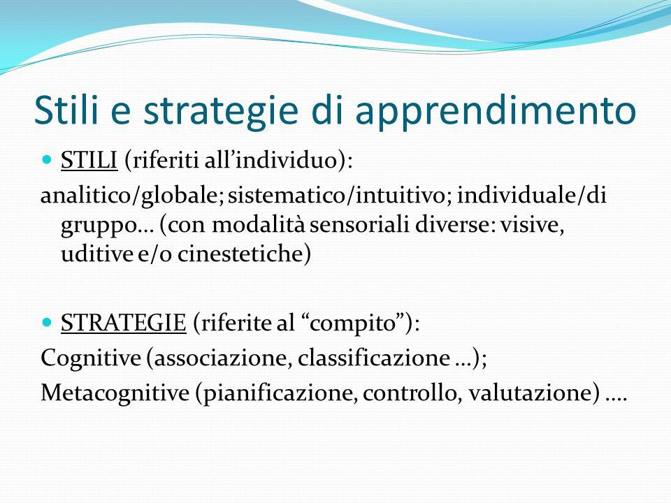 Stili e strategie di apprendimento