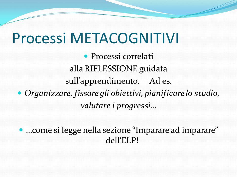 Processi METACOGNITIVI
