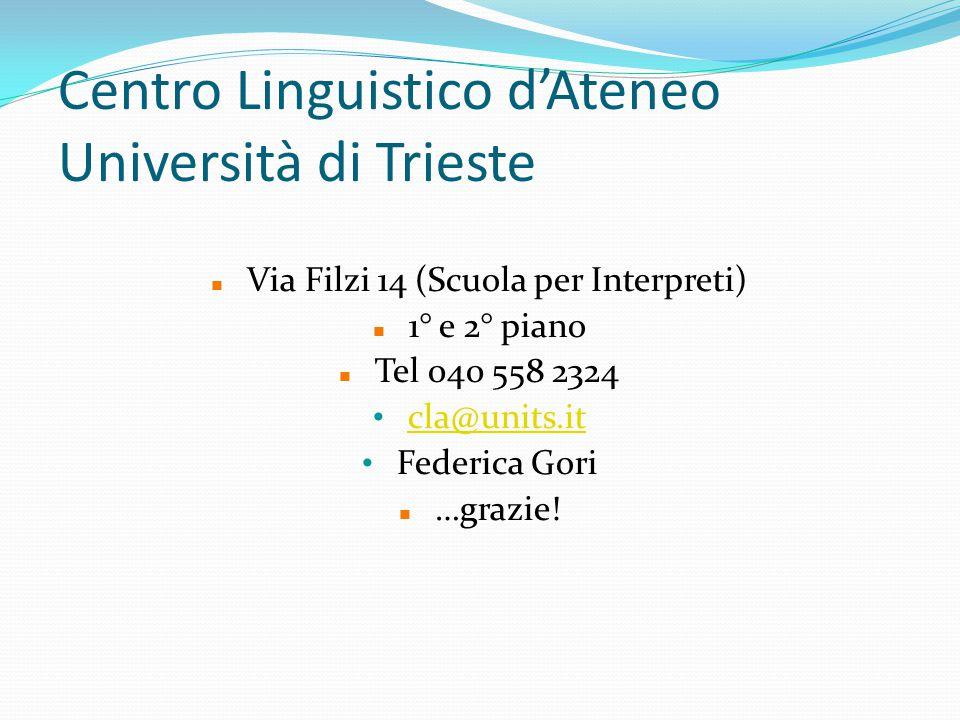 Centro Linguistico d'Ateneo Università di Trieste