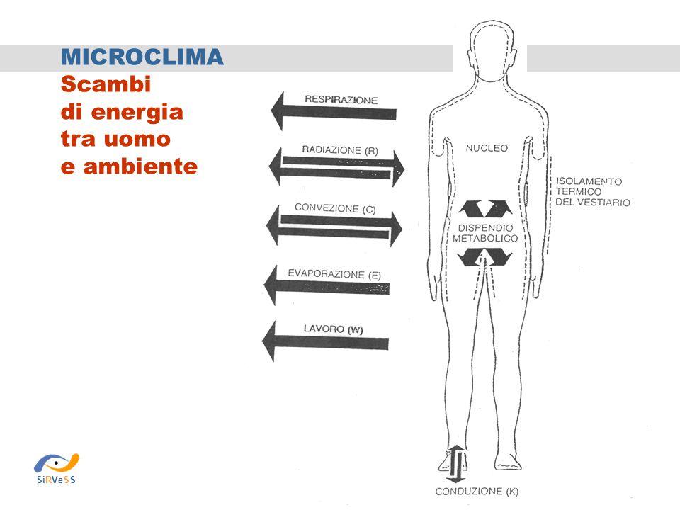 MICROCLIMA Scambi di energia tra uomo e ambiente SiRVeSS