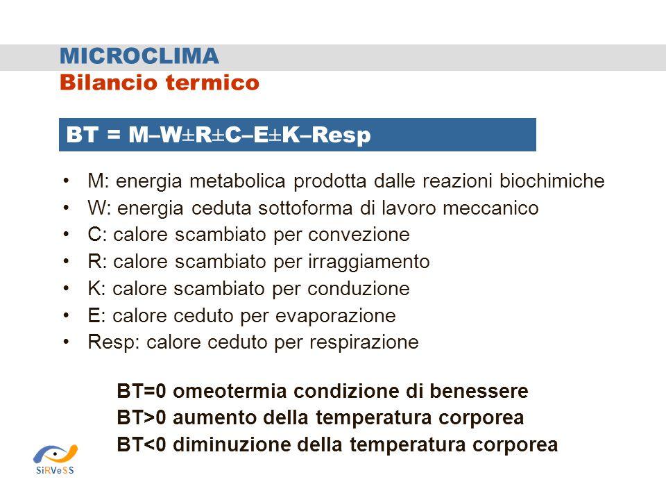MICROCLIMA Bilancio termico
