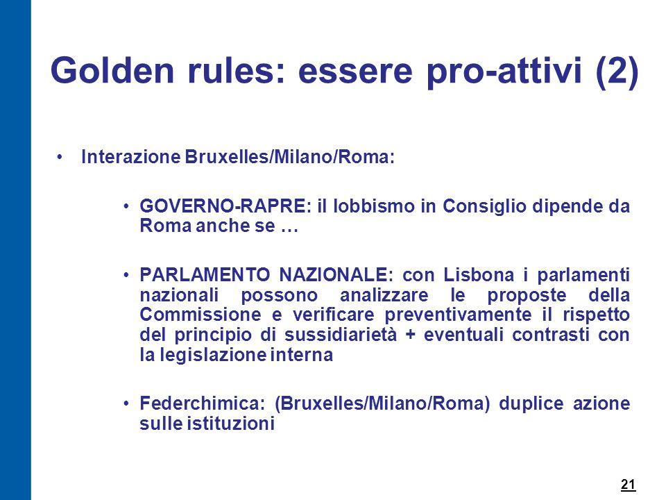 Golden rules: essere pro-attivi (2)