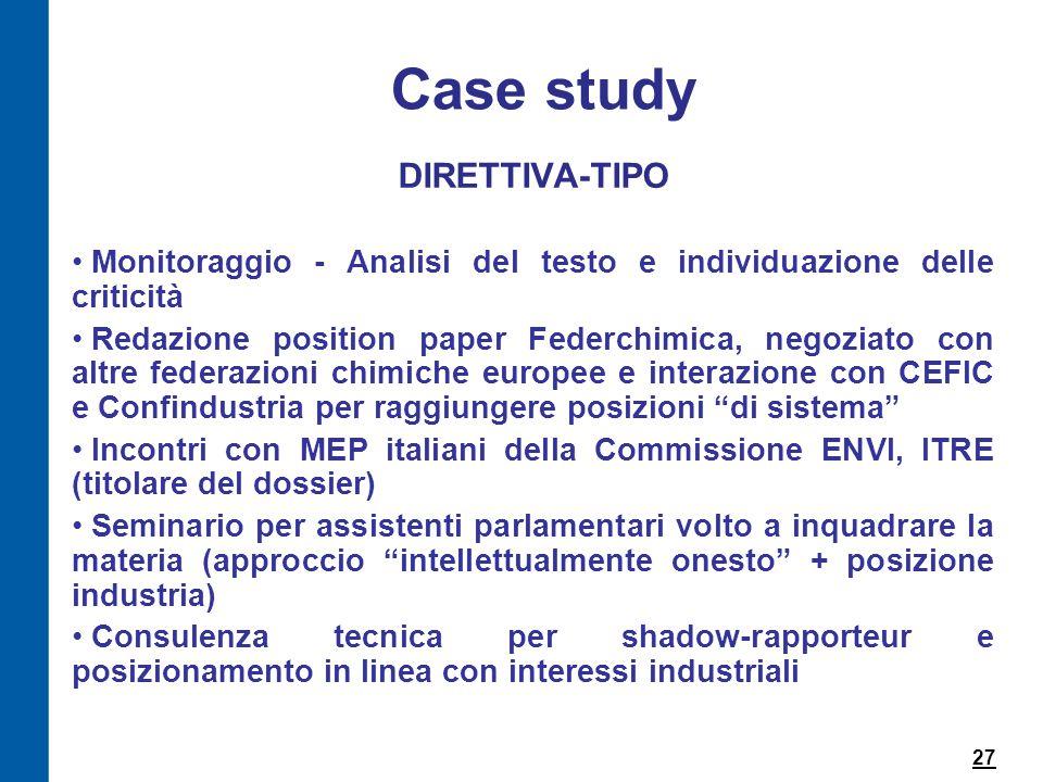 Case study DIRETTIVA-TIPO