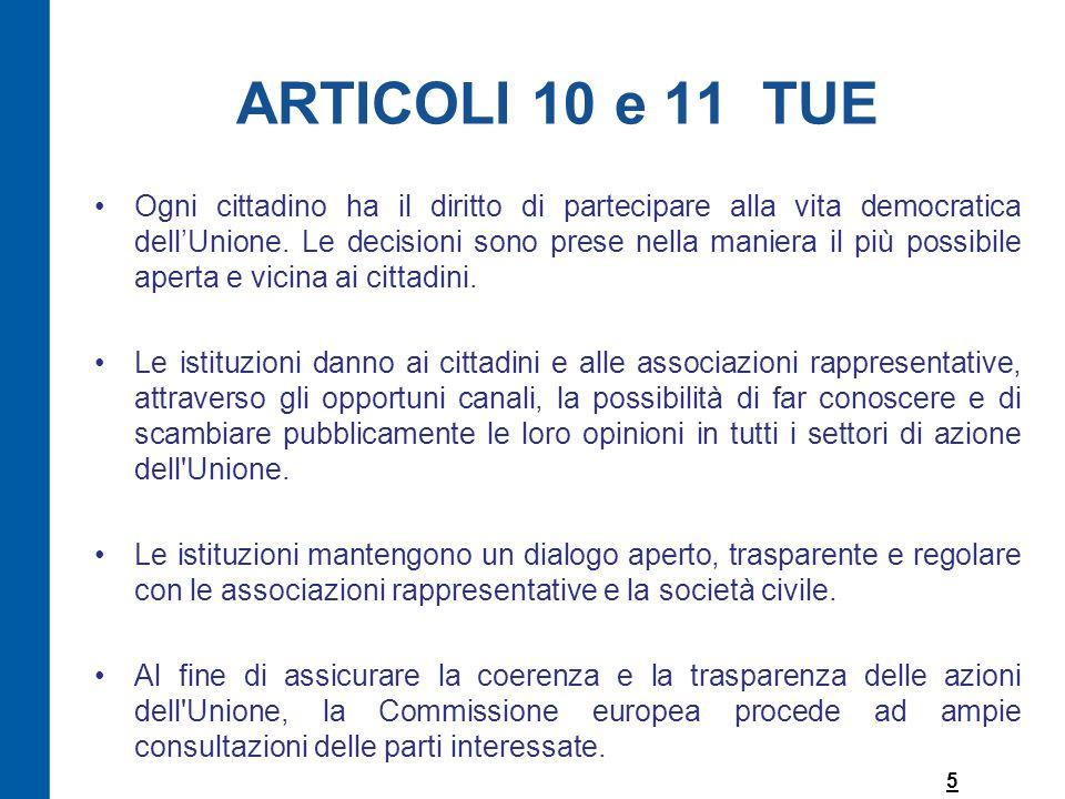 ARTICOLI 10 e 11 TUE