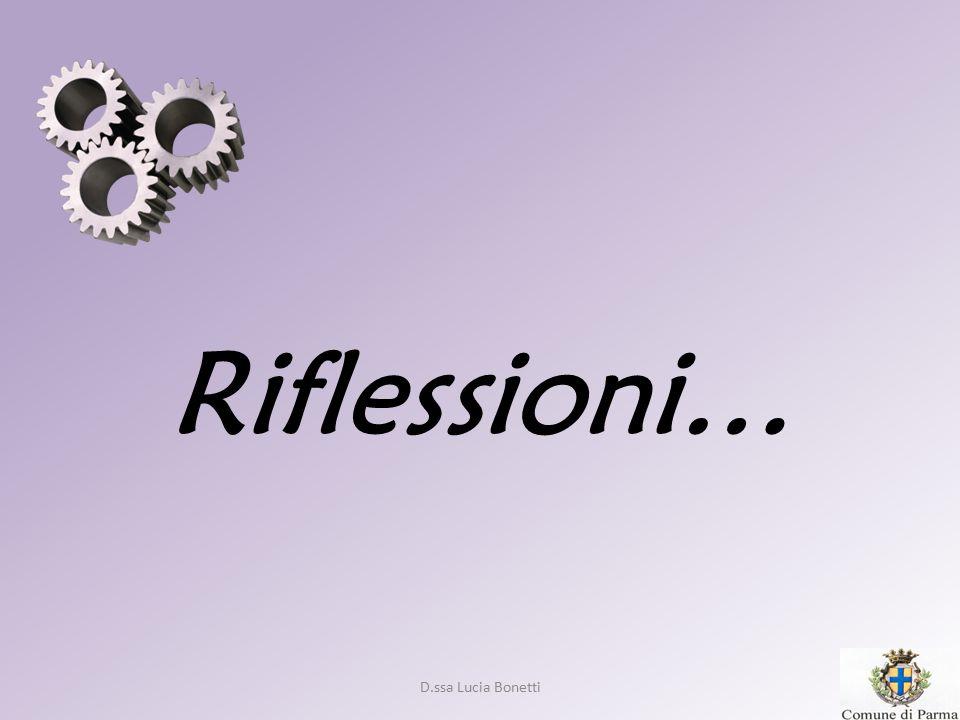 Riflessioni… D.ssa Lucia Bonetti 16