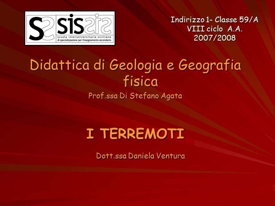 Didattica di Geologia e Geografia fisica