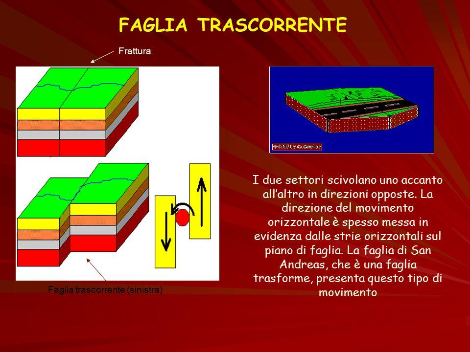 FAGLIA TRASCORRENTE Frattura.