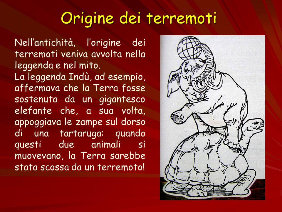 Origine dei terremoti Nell'antichità, l'origine dei terremoti veniva avvolta nella leggenda e nel mito.