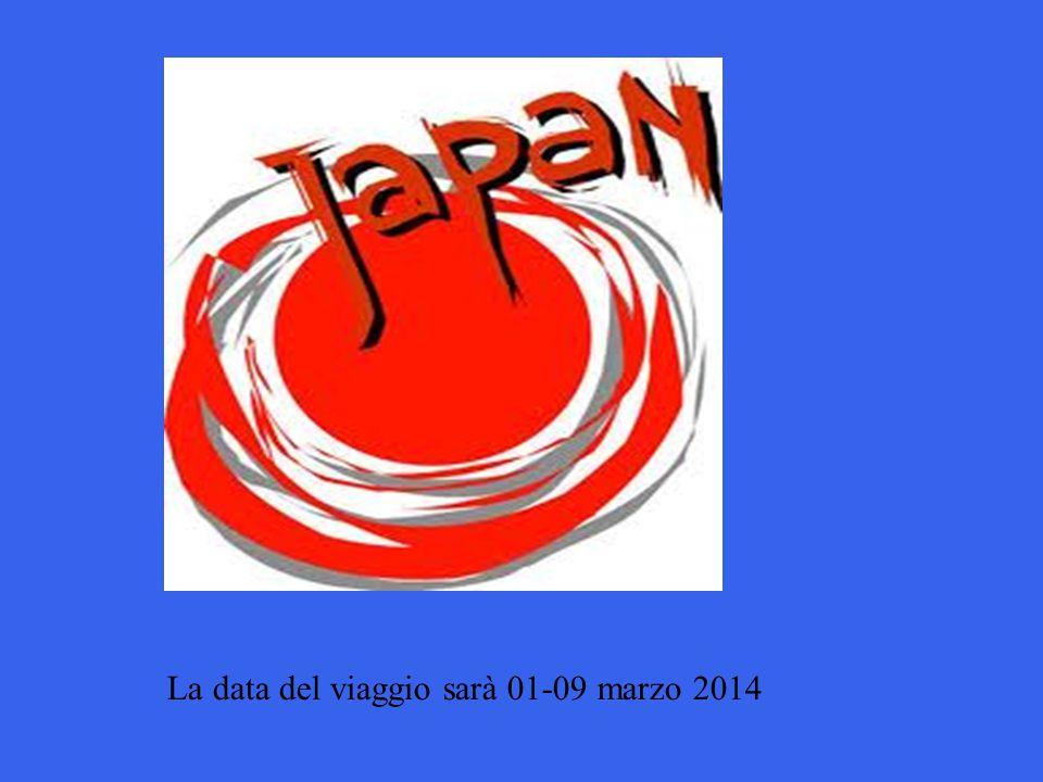 La data del viaggio sarà 01-09 marzo 2014