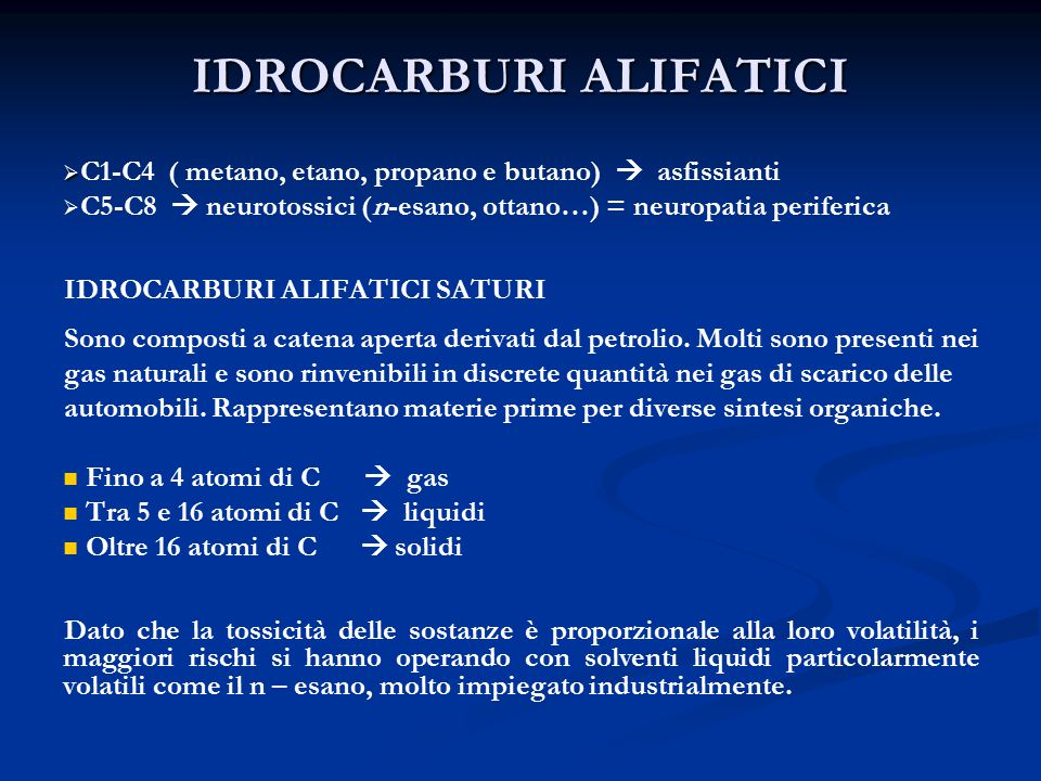 IDROCARBURI ALIFATICI