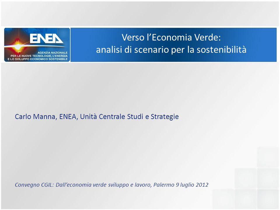Verso l'Economia Verde: analisi di scenario per la sostenibilità