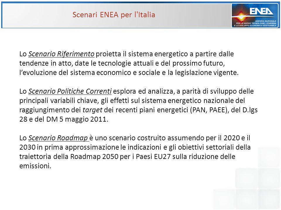 Scenari ENEA per l Italia
