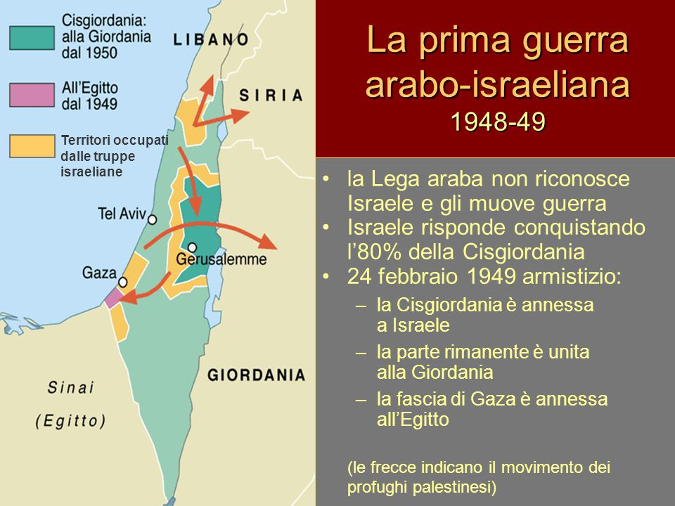La prima guerra arabo-israeliana 1948-49