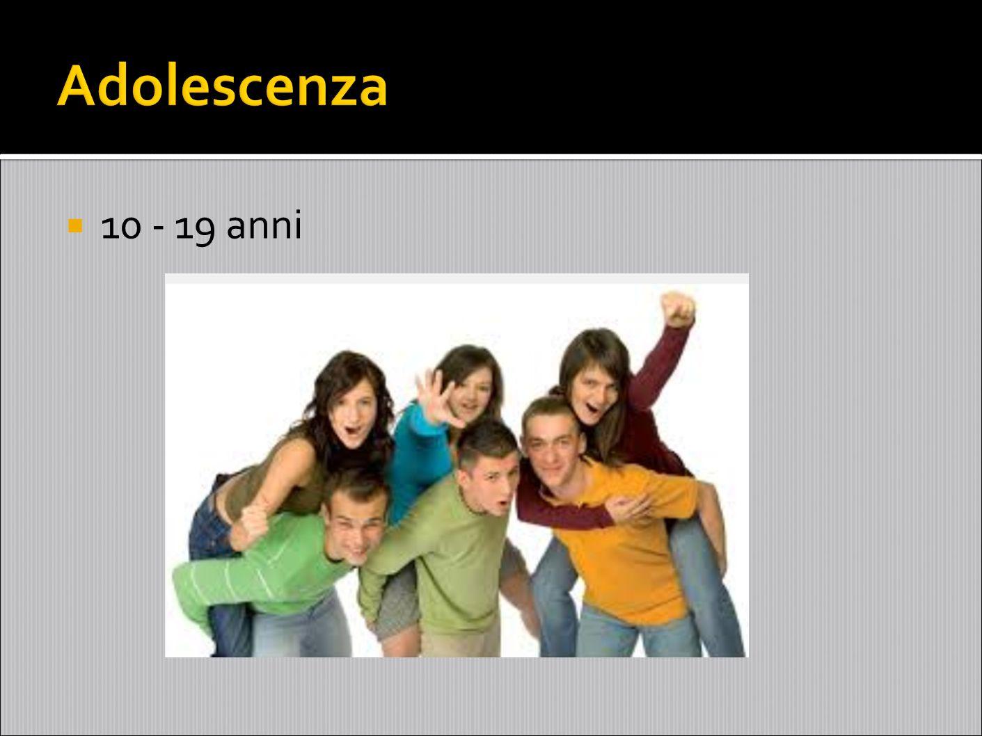 Adolescenza 10 - 19 anni