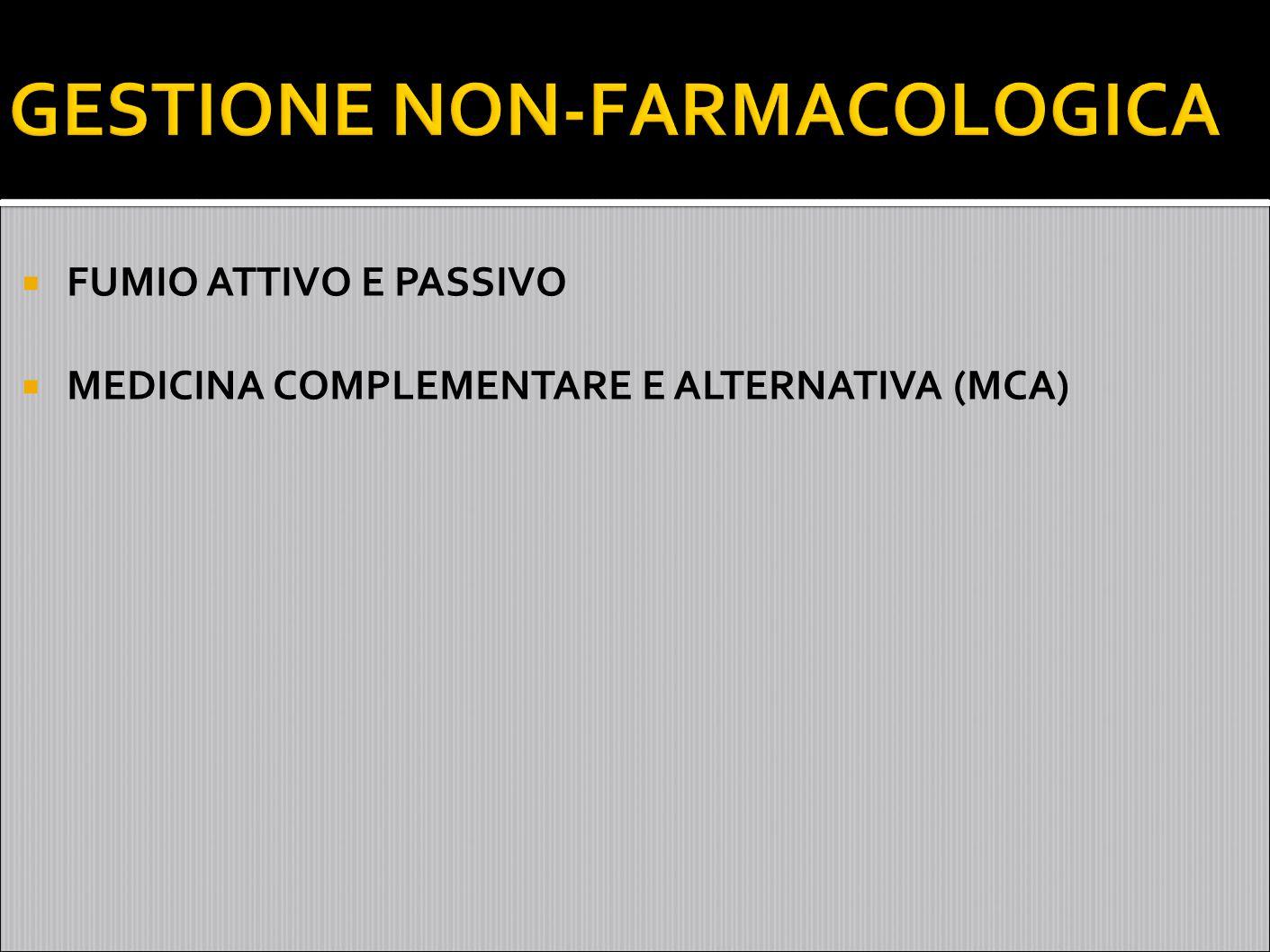 GESTIONE NON-FARMACOLOGICA